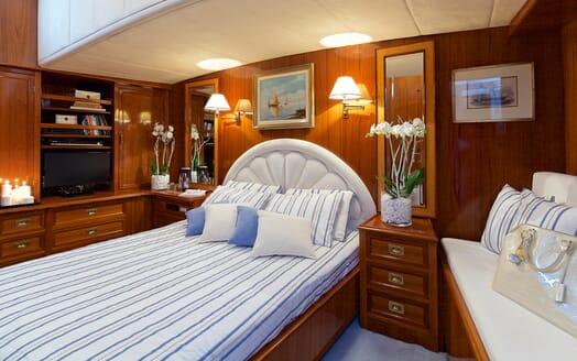 Sailing Yacht Hermina Master cabin