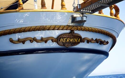 Sailing Yacht Hermina aft