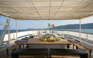 Motor Yacht Prometej outdoor seating area