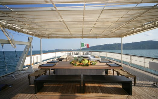Motor Yacht Prometej outdoor seating area