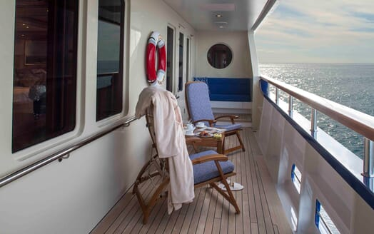 Motor Yacht Laurel side deck