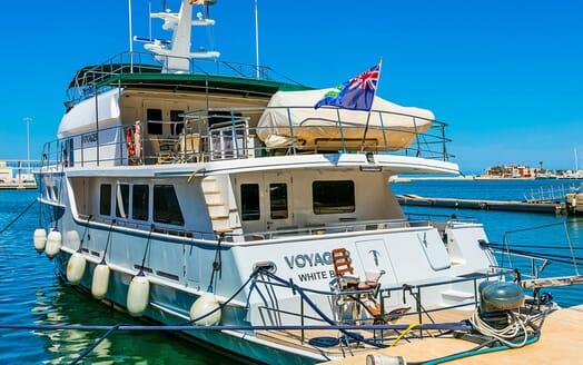 Motor Yacht Voyager aft shot