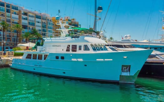 Motor Yacht Voyager moored