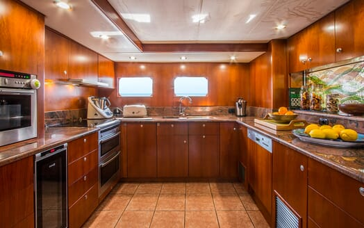 Motor Yacht Voyager galley