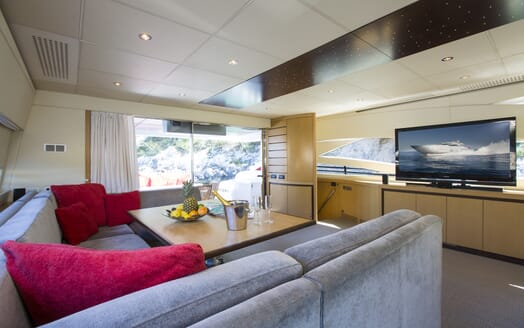 Motor Yacht Tiger Lily saloon