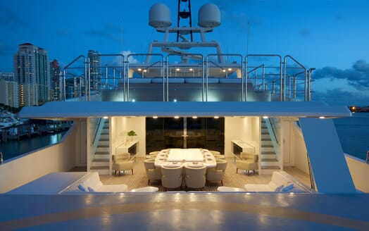 Motor Yacht Vicky Evening Aft Deck