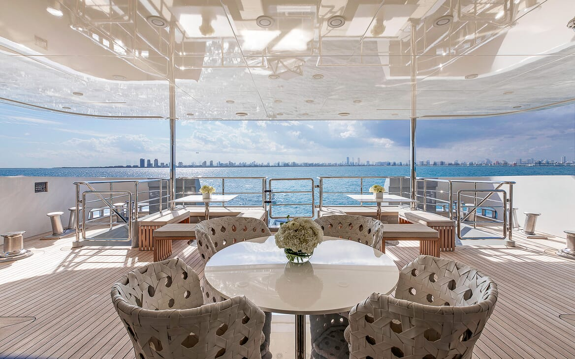 Motor Yacht Vicky Aft Deck Seating