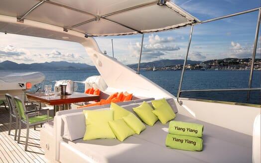 Motor Yacht Ylang Ylang sun loungers