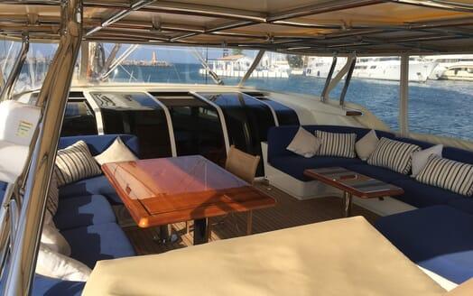 Sailing Yacht Inmocean cockpit