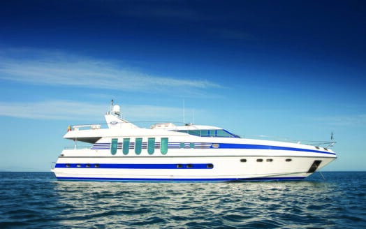 Motor Yacht Supertoy anchored