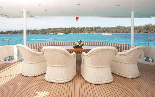 Motor Yacht Supertoy exterior dining