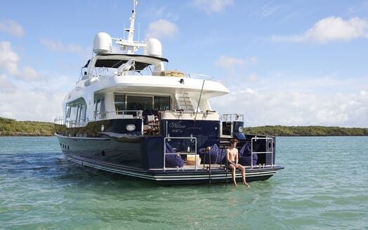 Motor Yacht WILLOW Aft Deck