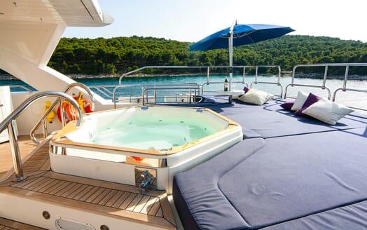 Motor Yacht Cassiopeia Sun Deck Jacuzzi