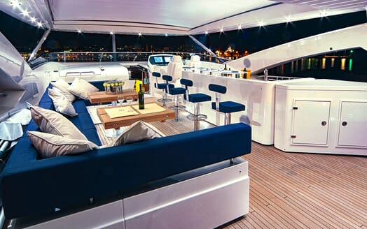 Motor Yacht Cassiopeia Top Deck