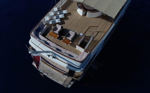 Motor Yacht SHAHA Aerial Aft View