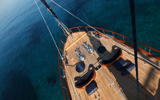 Sailing Yacht Clear Eyes foredeck