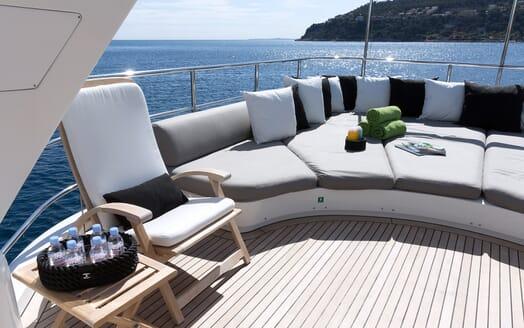 Motor Yacht Salu sun loungers