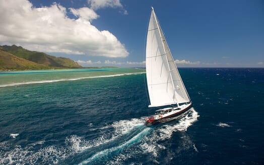 Sailing Yacht Bliss sailing