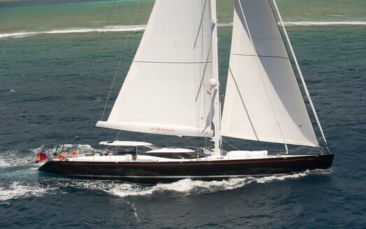 Sailing Yacht Bliss cruising