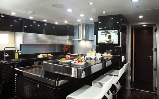 Sailing Yacht Bliss galley