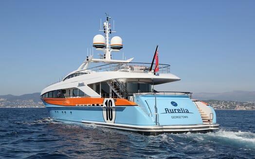 Motor Yacht AURELIA Aft Profile