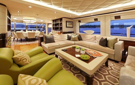Motor Yacht AURELIA Main Saloon