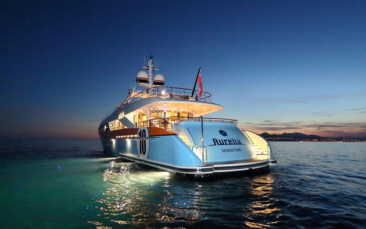 Motor Yacht AURELIA Evening Aft