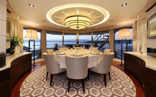 Motor Yacht AURELIA Dining Room