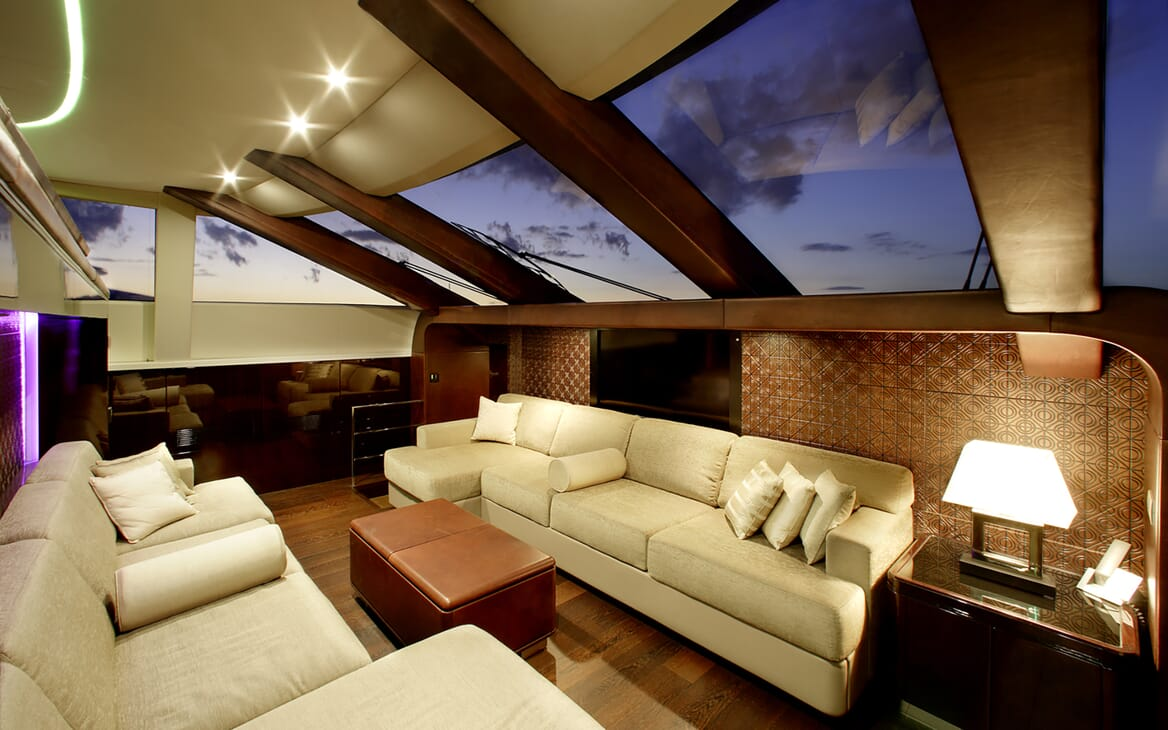Motor Yacht My Toy seating area
