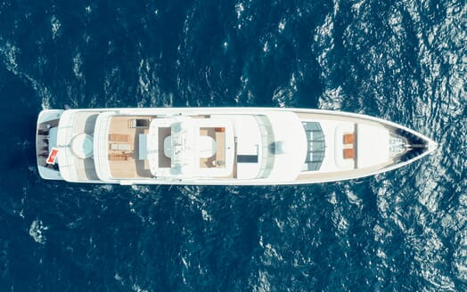Motor Yacht Tatiana outdoor dining area