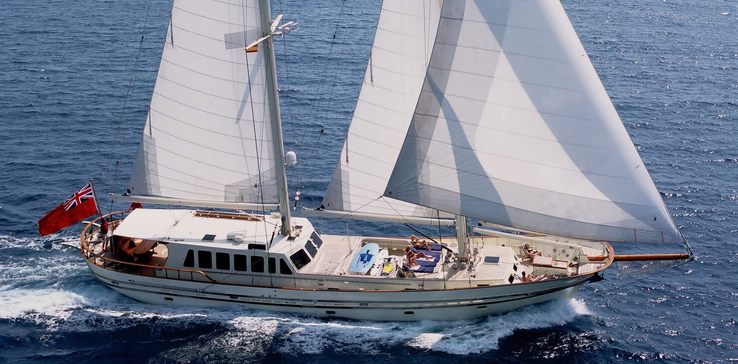 Sailing Yacht TIGERLILY OF CORNWALL Underway