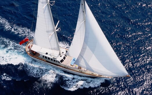 Sailing Yacht TIGERLILY OF CORNWALL Aerial Underway