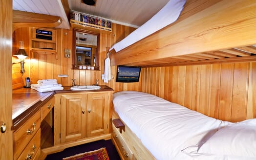Sailing Yacht TIGERLILY OF CORNWALL Twin Guest Stateroom