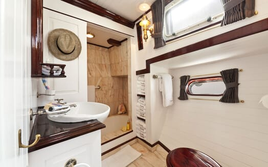 Sailing Yacht TIGERLILY OF CORNWALL Guest Bathroom