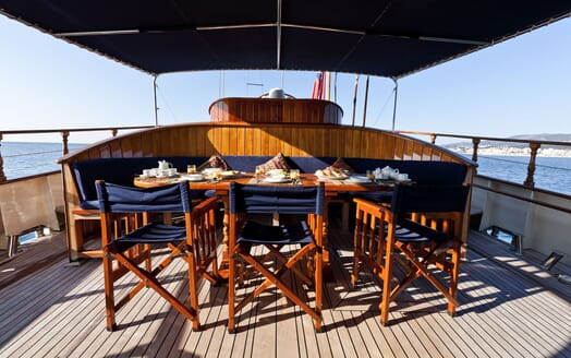 Sailing Yacht TIGERLILY OF CORNWALL Deck Al Fresco Dining