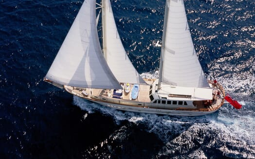 Sailing Yacht TIGERLILY OF CORNWALL Aerial Underway 2