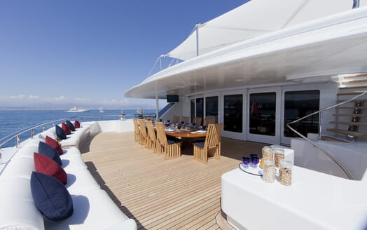Motor Yacht Sarah outdoor seating area