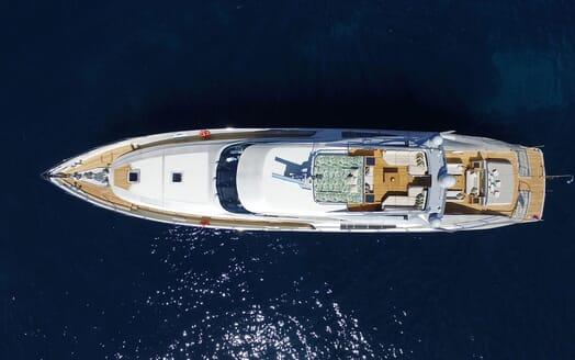 Motor Yacht Escape II Aerial Exterior