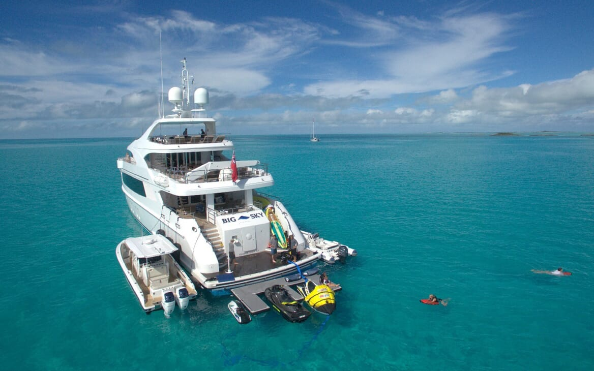Motor Yacht Big Sky Tenders and Toys