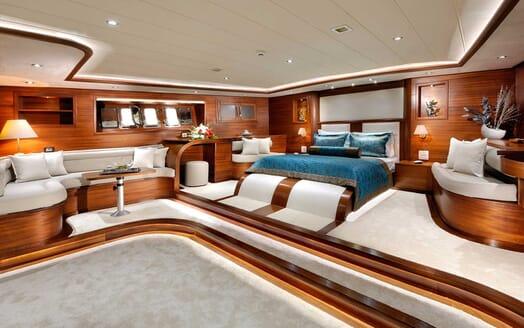Sailing Yacht Alessandro master cabin