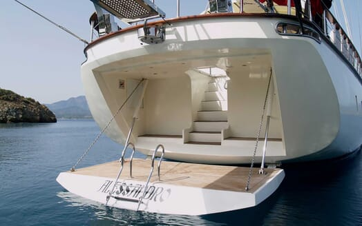 Sailing Yacht Alessandro aft deck