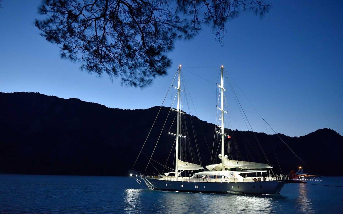 Sailing Yacht Alessandro anchored