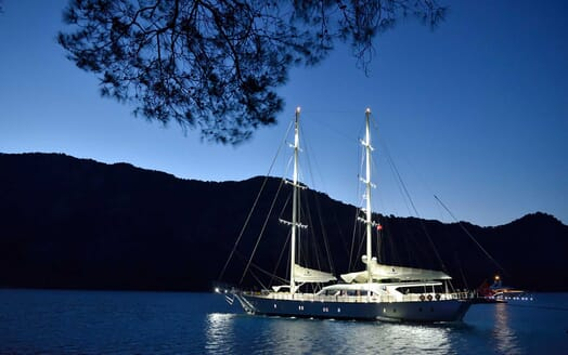 Sailing Yacht Alessandro anchored