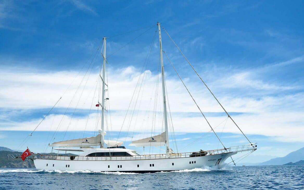 Sailing Yacht Alessandro underway