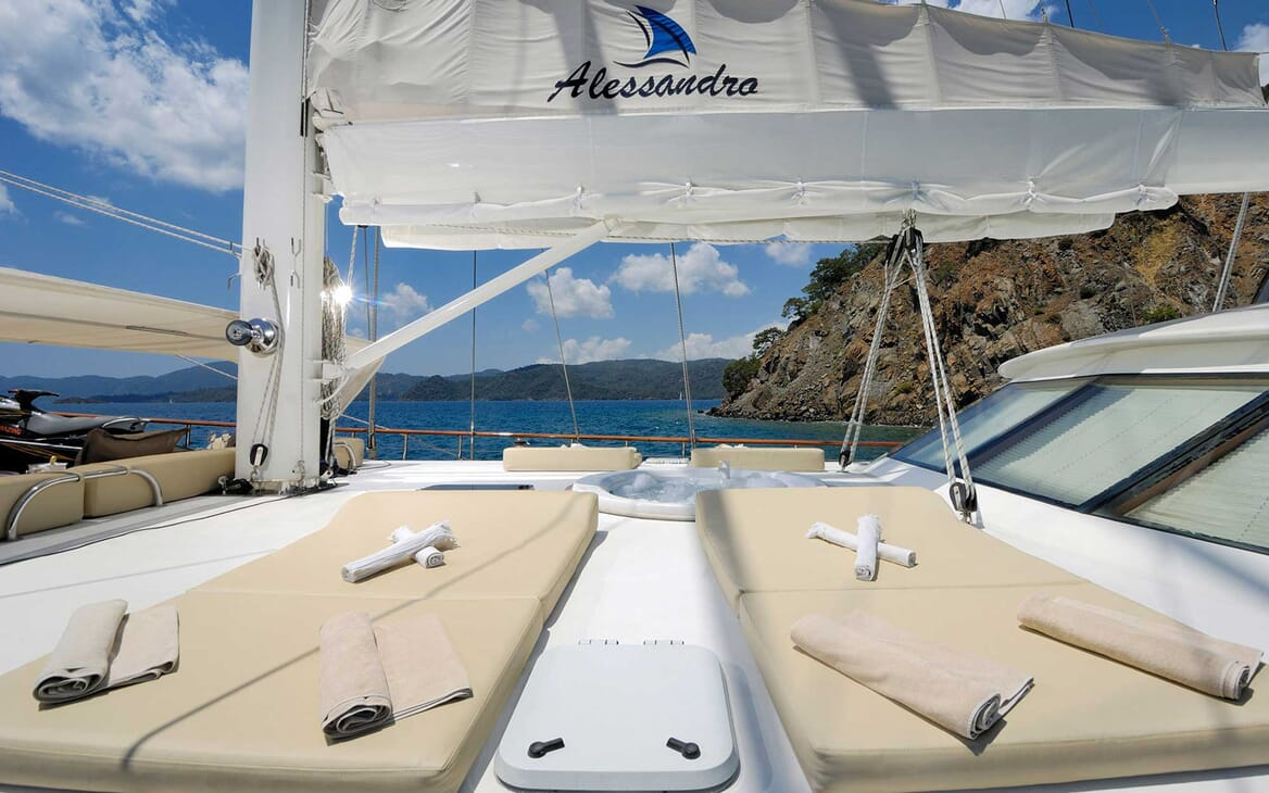 Sailing Yacht Alessandro deck