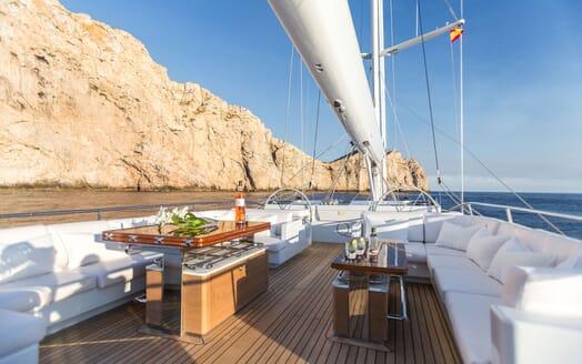 Sailing Yacht Q On Deck Al Fresco