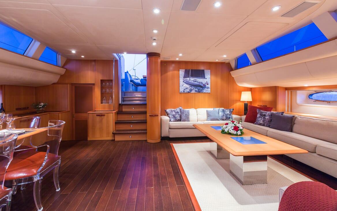 Sailing Yacht A Sulana Main Saloon