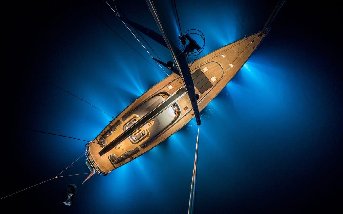 Sailing Yacht A Sulana Evening Aerial