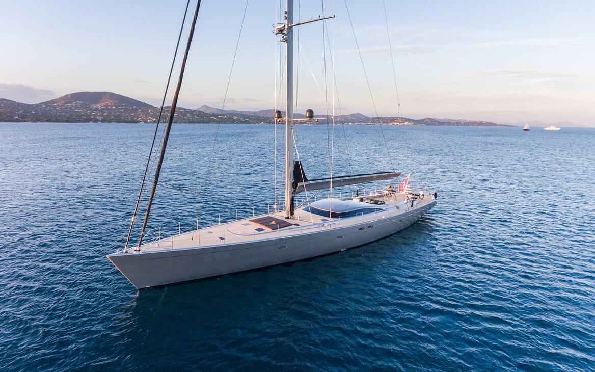 Sailing Yacht A Sulana Aerial Anchored