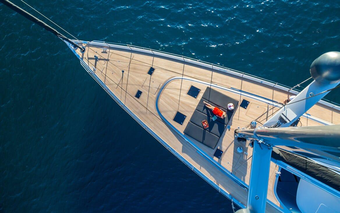 Sailing Yacht A Sulana Sun Bathing